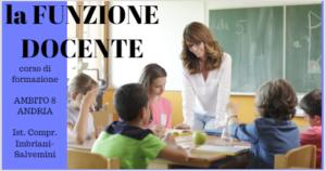 corso di formazione per docenti - AMBITO 8 Andria - ISTITUTO COMPRENSIVO IMBRIANI SALVEMINI